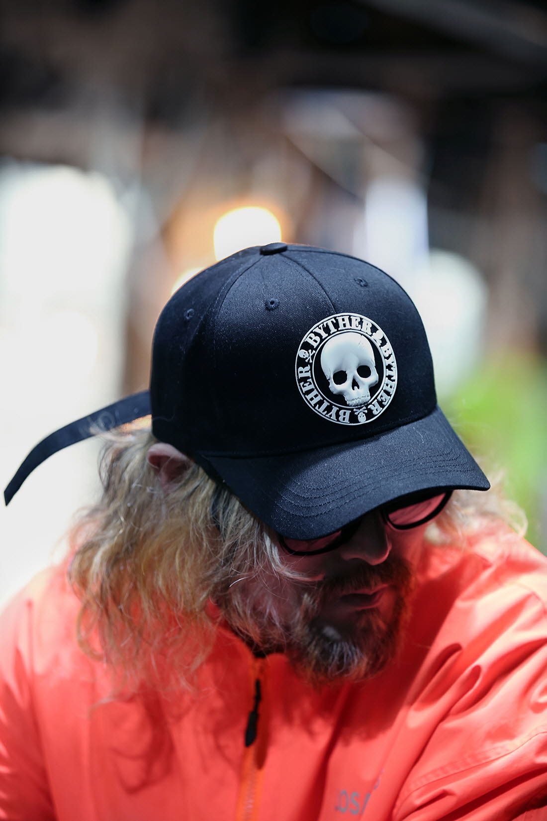 ByTheR Unisex Skull Logo Patch Cotton Ball Cap Black Gym HomeTraining Workout