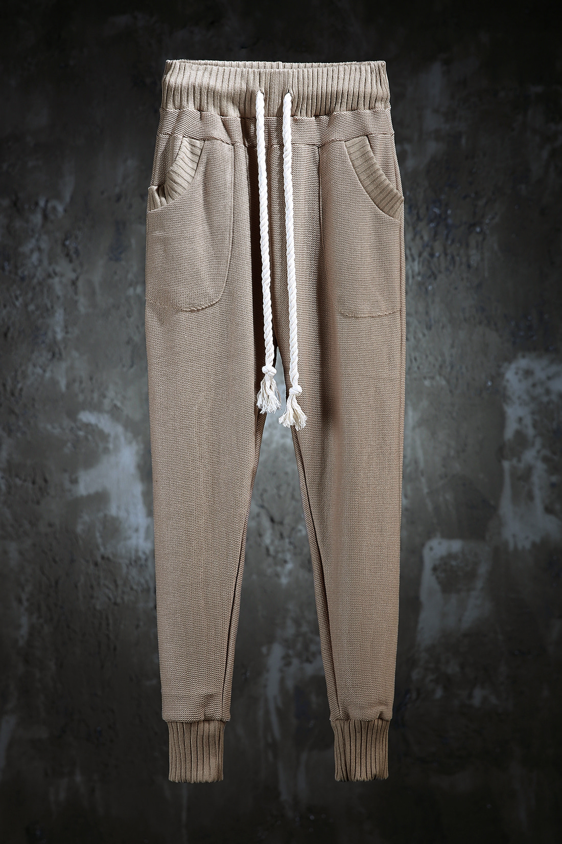 ByTheR Unique Urban Casual Vintage Slim Fit Knit One Size Trainning Pants CA