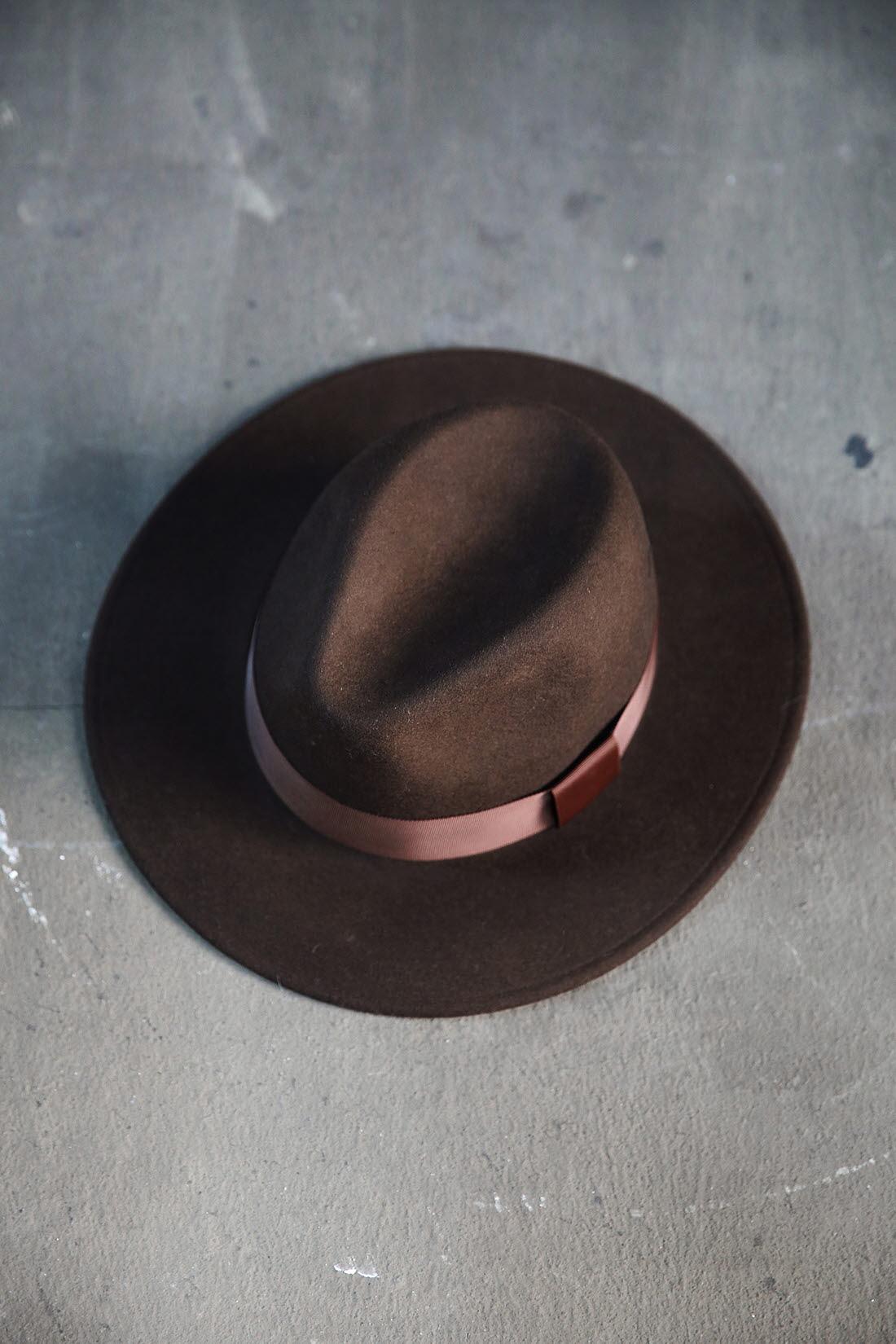 ByTheR Mens Premium Woolen Classic Gentlemen Detachable Ribbon Fedora Hat