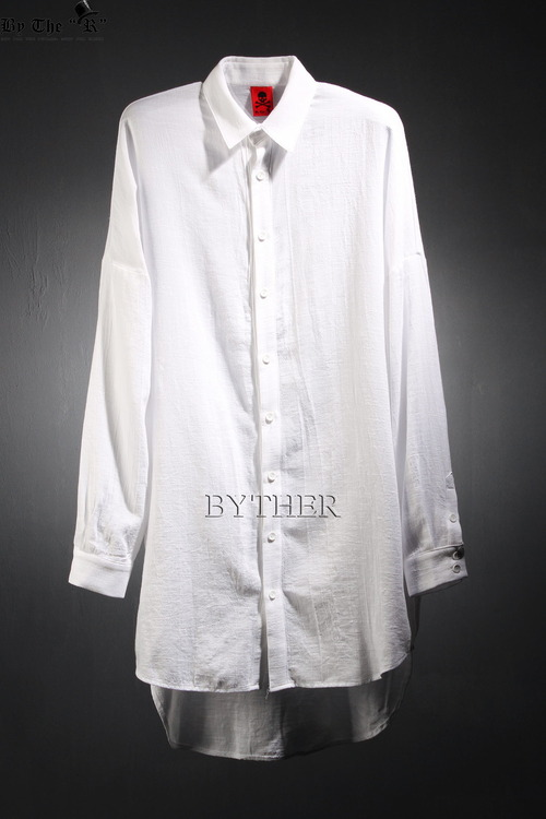 ByTheR 언발란스 루즈핏 코튼 롱 셔츠